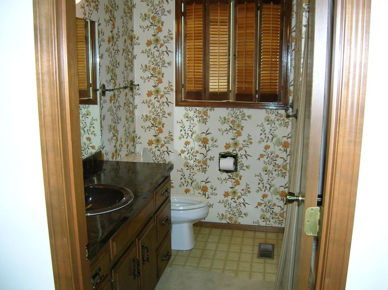 Bathroom from hallway