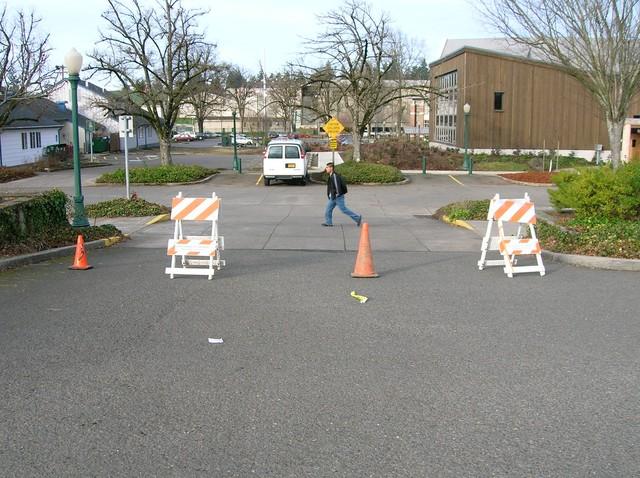 1blocking_off_a_school_parking_lot